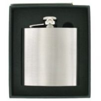 Brushed Stainless Steel Hip Flask 6oz RRP £18.99 Ltd offer 25% off